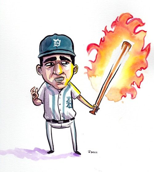 Nick Castellanos bat on fire